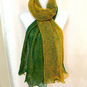 Winter Loose Knit Ruffled Edge Scarf Warm Reverse